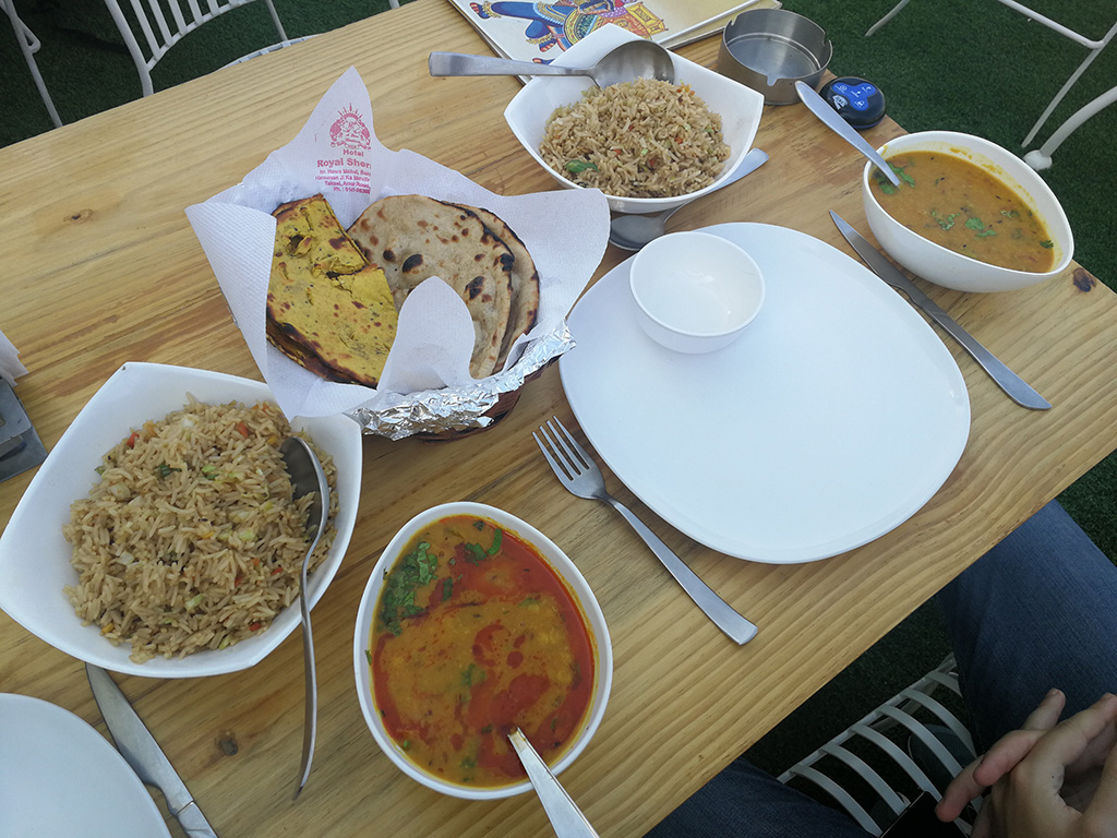 Indian Food - Jaipur (Dal and Veg Fried Rice)