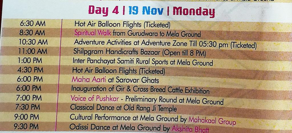 Pushkar Camel Fair - Festival Itinerary - Day 4