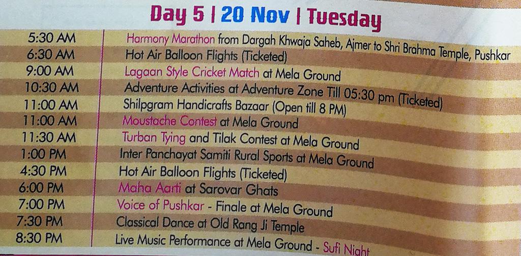 Pushkar Camel Fair - Festival Itinerary - Day 5