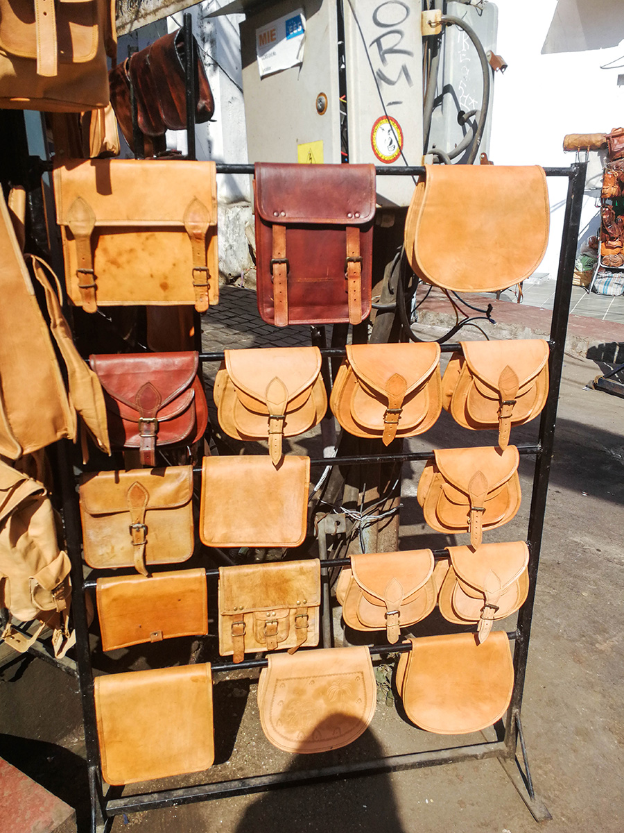 Leather Items in Bazzar