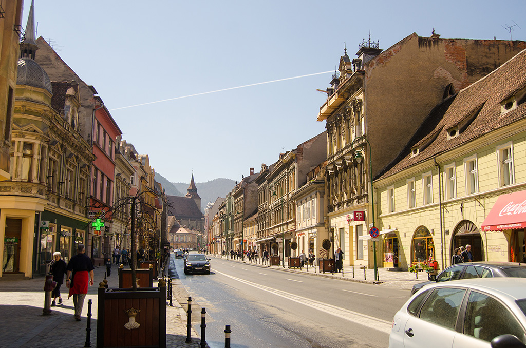 Street in Brasov Old City Center