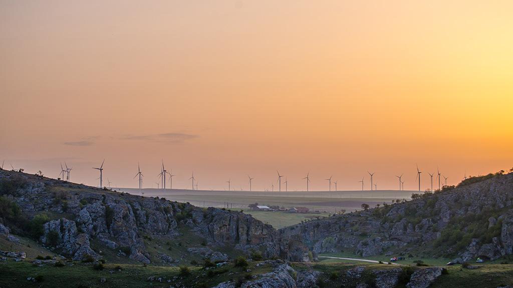 Dobrogea Quais at sunrise