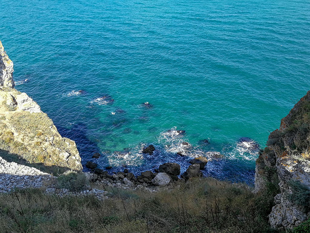 The blue waters of Kaliakra