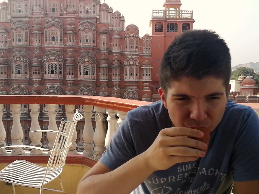 Chai with Hawa Mahal view