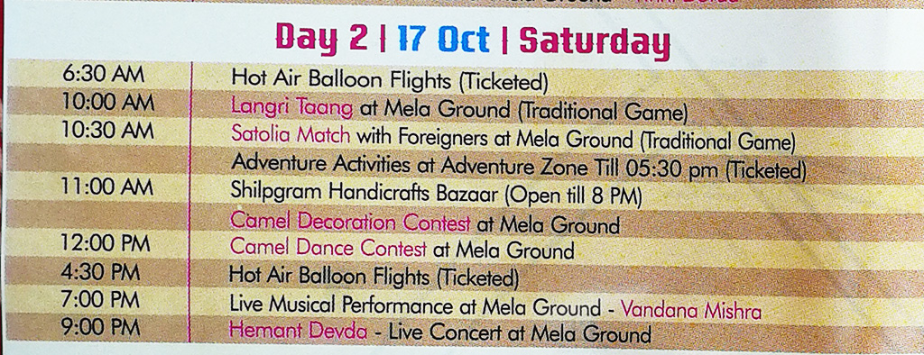 Pushkar Camel Fair - Festival Itinerary - Day 2