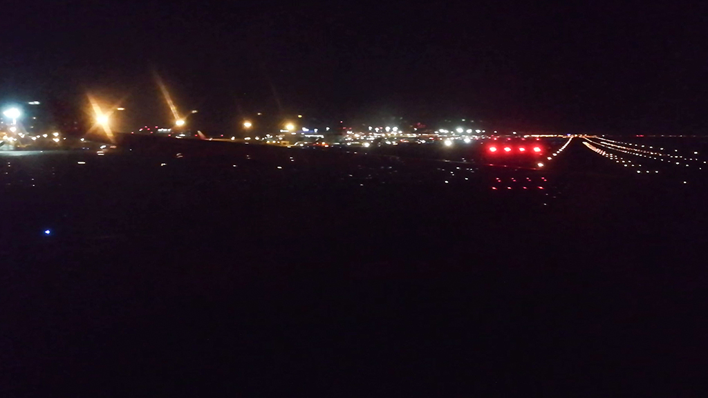 Moscow Airport at night