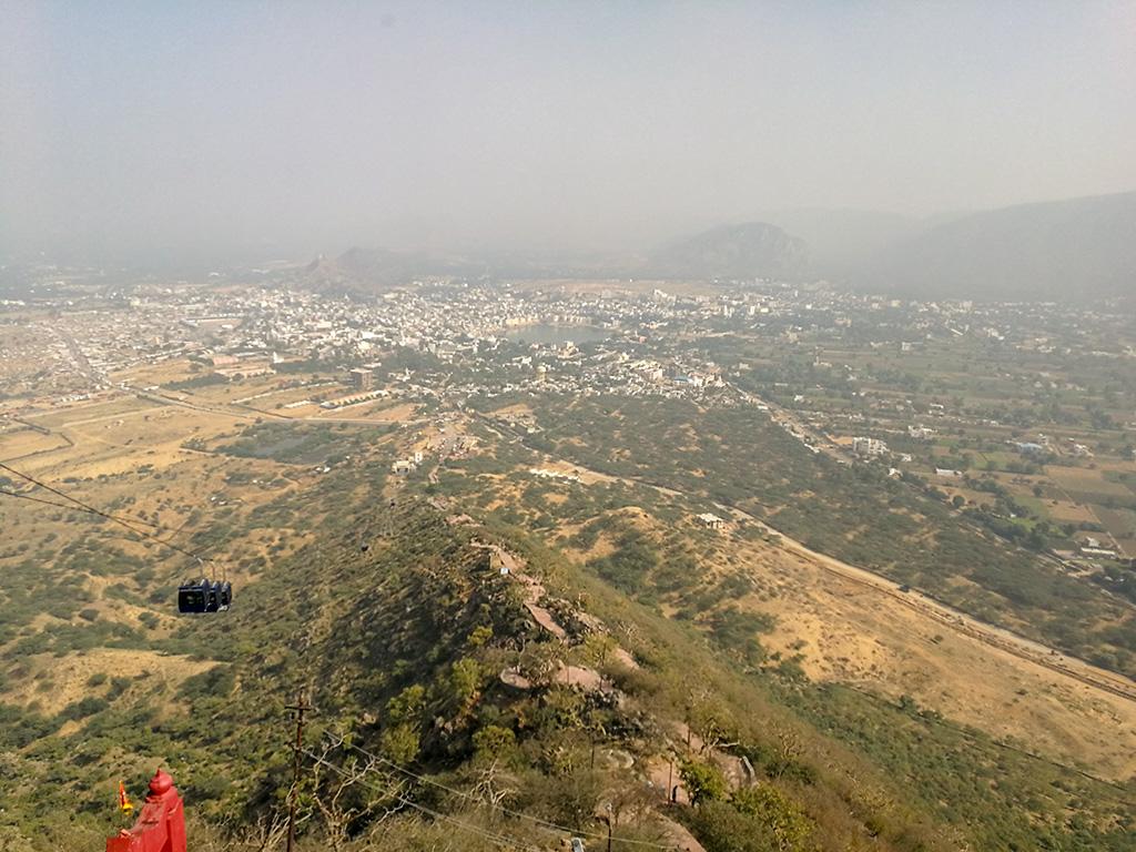 Pushkar view from Temple Savitri Mata