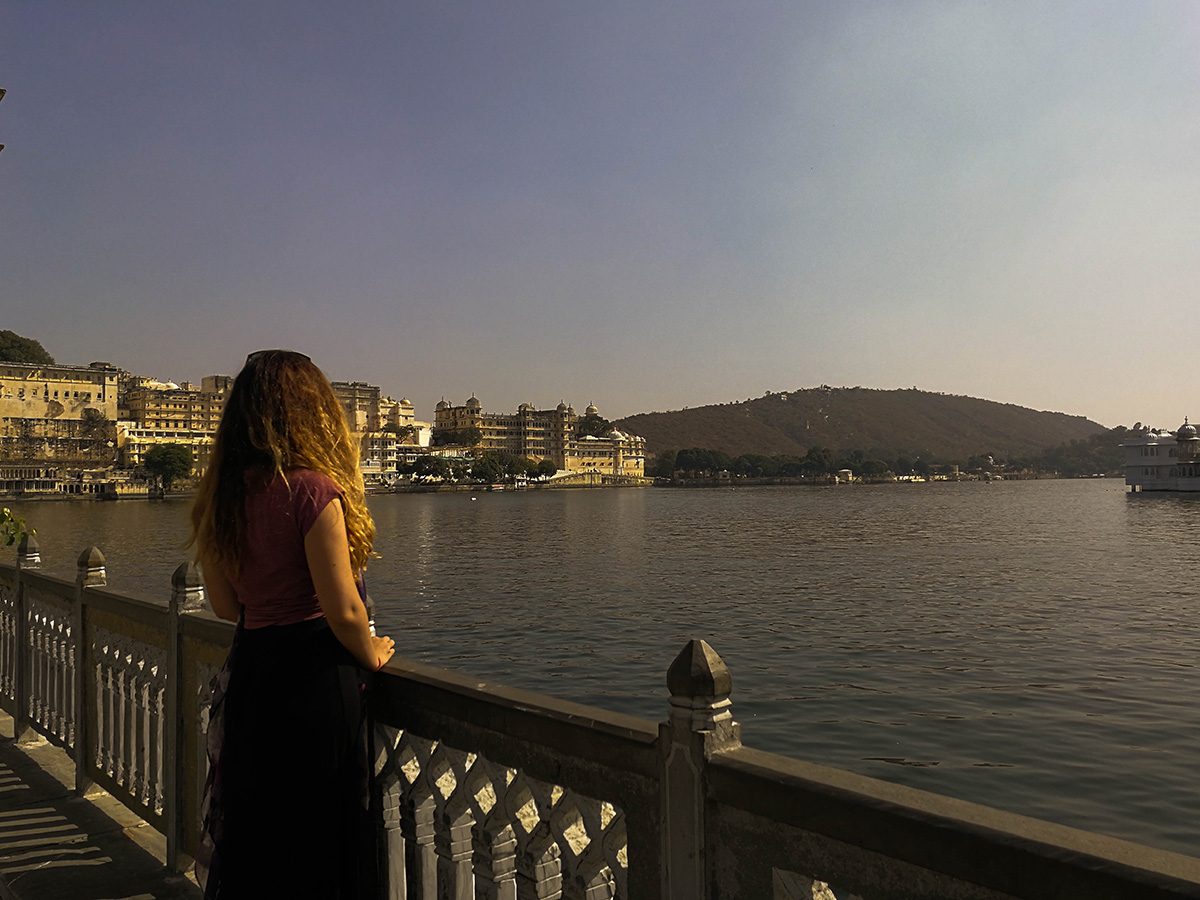 City Palace view from Ambrai Ghat Park