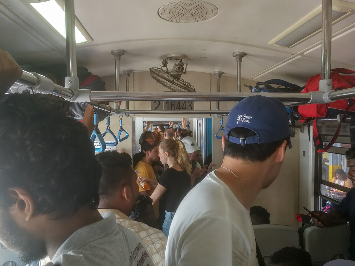 In the train to Ella