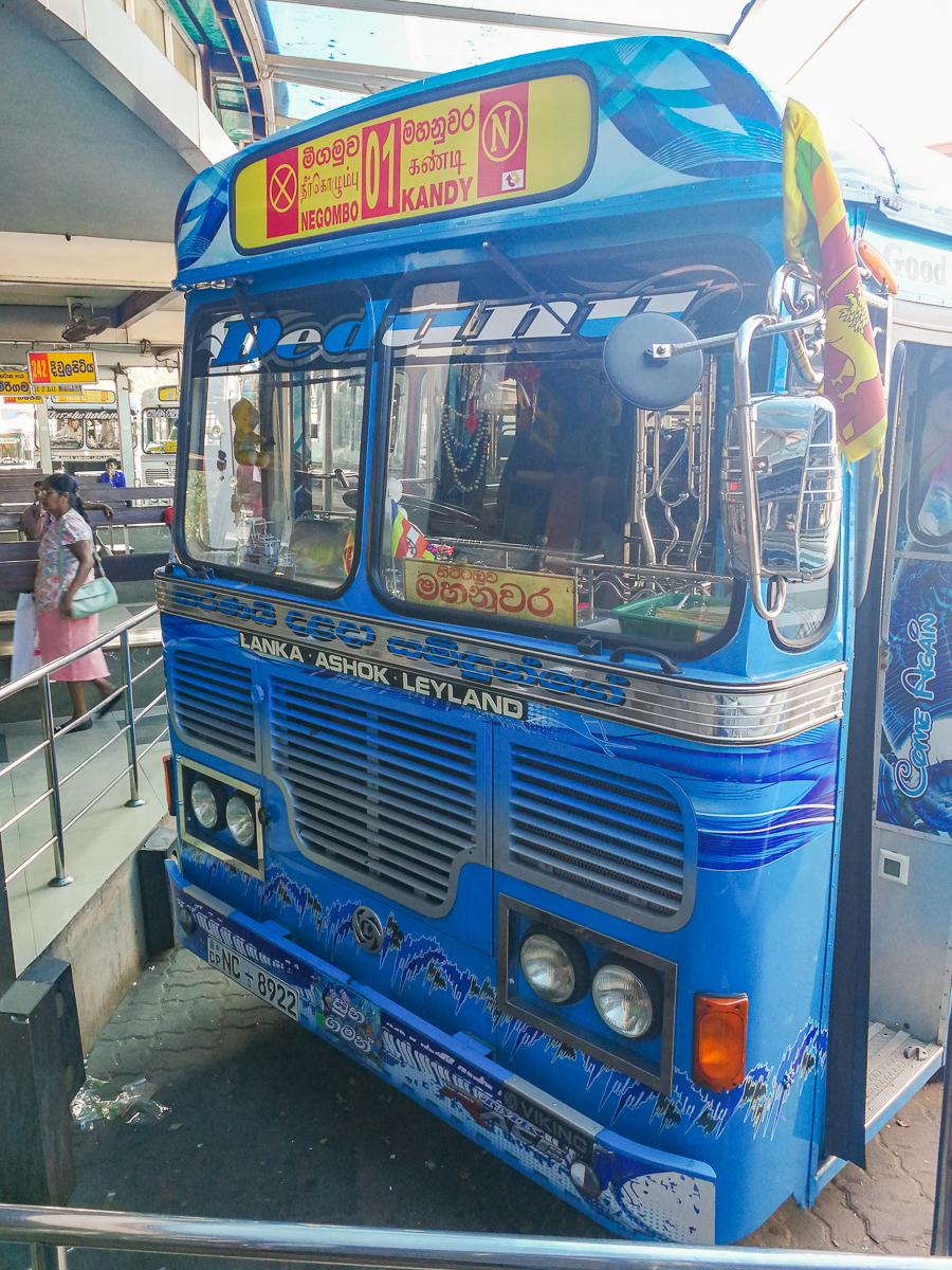 Blue Bus in Sri Lanka