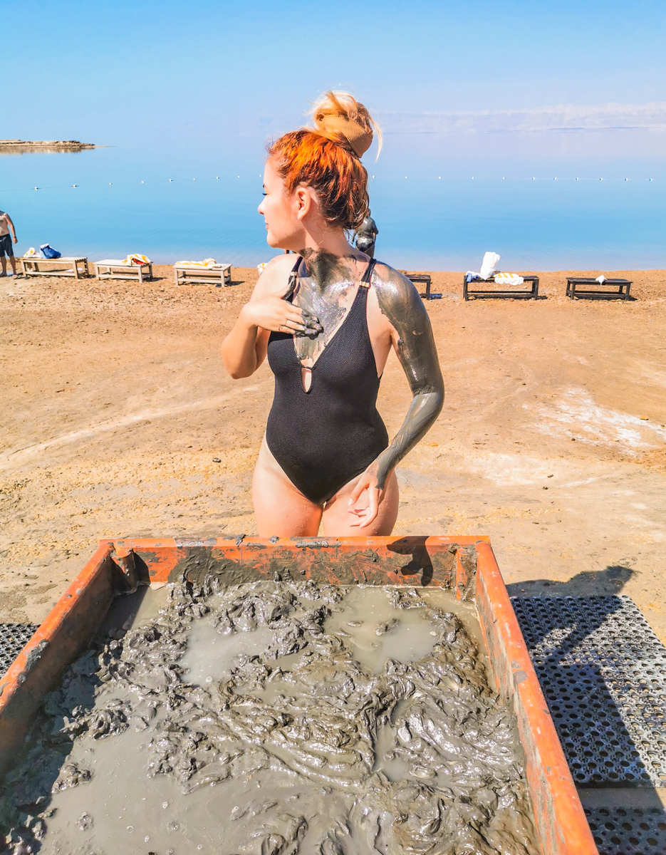 Mud from the bottom of the Dead Sea