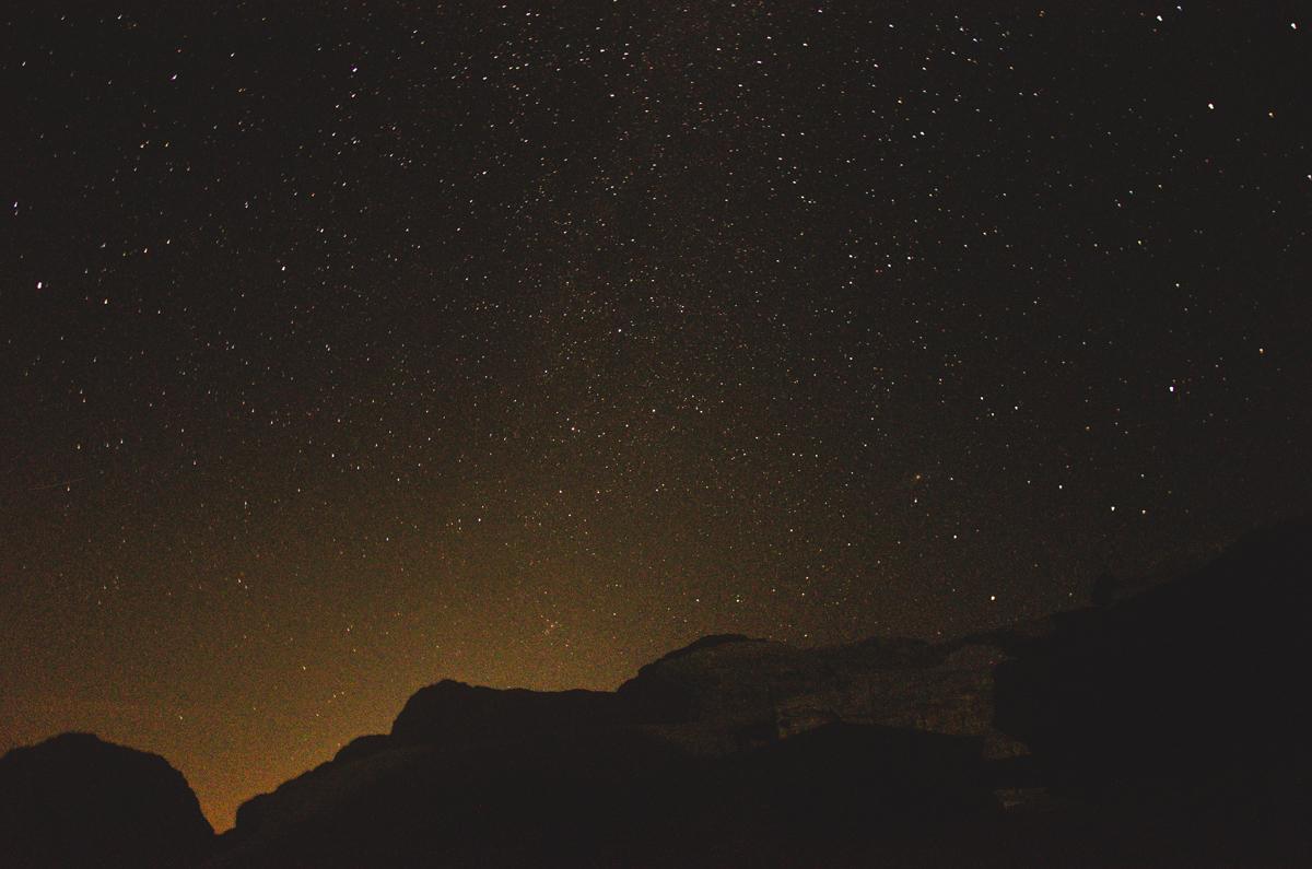 Night sky in Wadi Rum