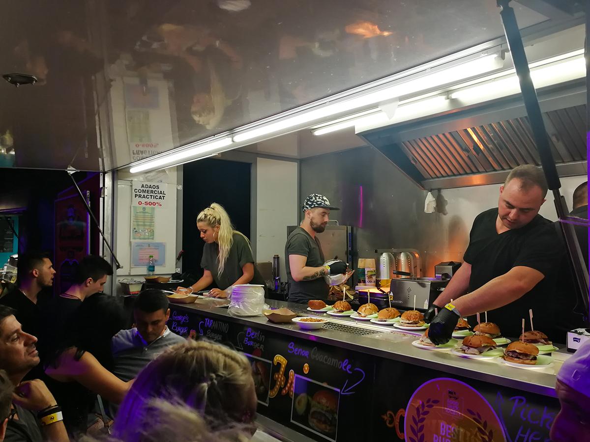 Food trucks at Neversea