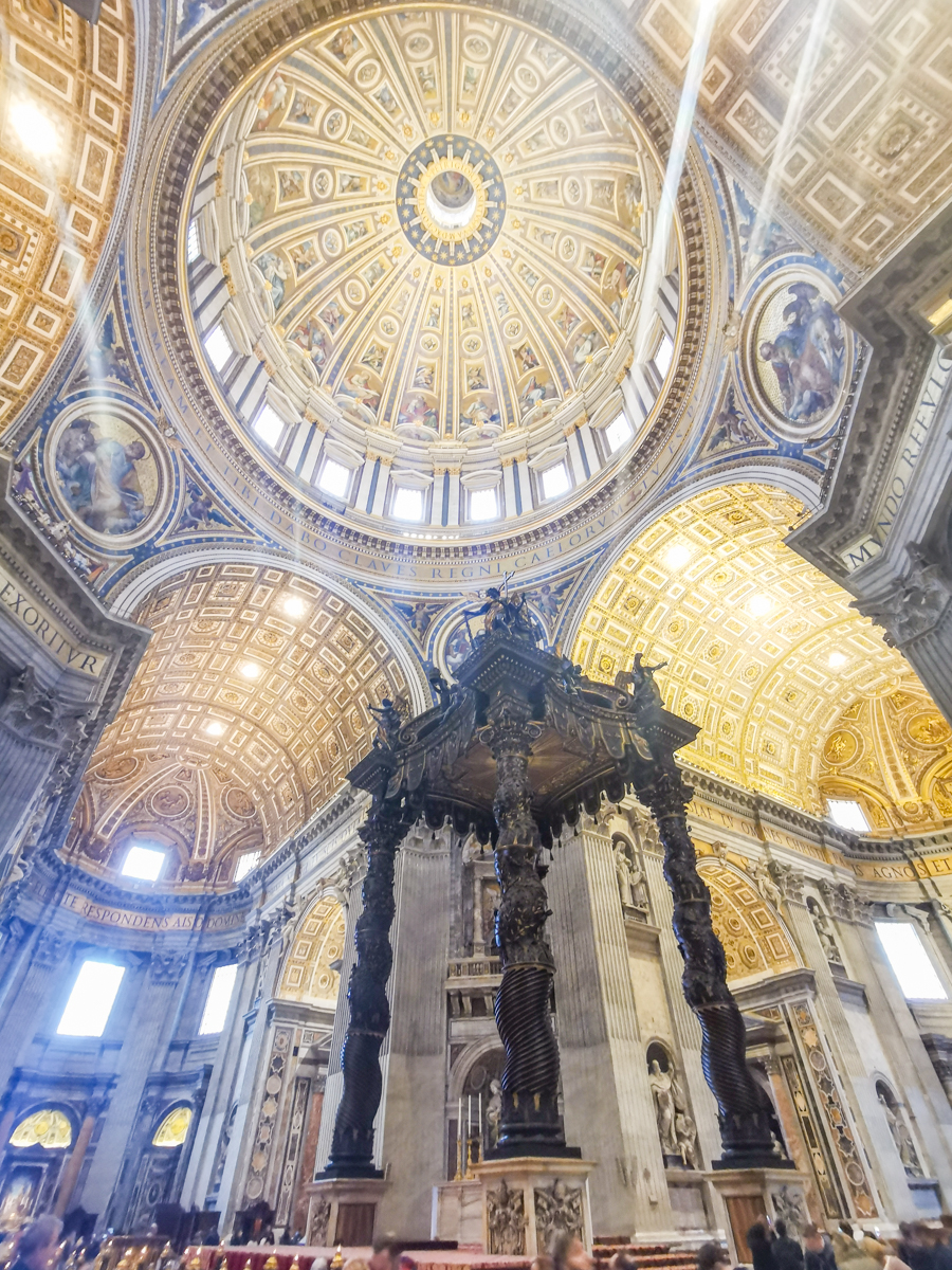 St. Peter's Baldachin in the St. Peter's Basilica