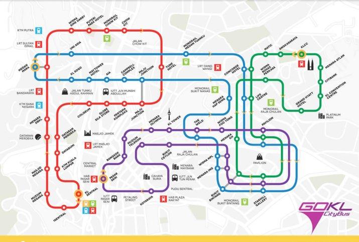 Go KL City Bus Map