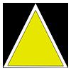 Marcaj turistic montan triunghi galben